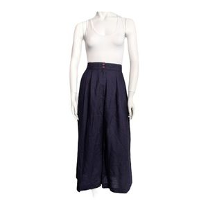 Vintage high waisted wide leg crop pants